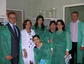 Wizyta szkoleniowa pracowników laboratorium fitosanitarnego Gruzji